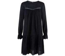 Häkelspitzen-Kleid Bohemian schwarz
