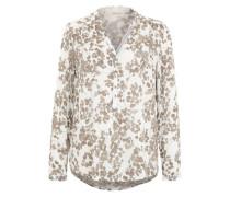 Leichte Tunika-Bluse beige / weiß