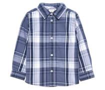 Langarmhemd 'nitnohn' rauchblau / weiß