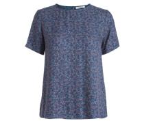 Gemustertes Blusenshirt blau