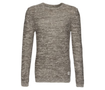 Pullover in Melange-Optik grau