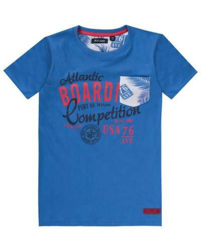 T-Shirt für Jungen blau / hellrot / schwarz