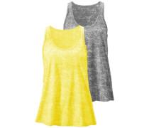 Tanktops (2 Stück) gelb / grau