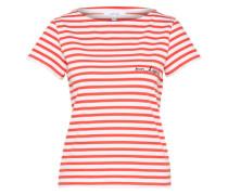 T-Shirt 'Spuwa' rot / weiß