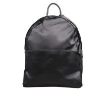 Rucksack mit glänzender Oberfläche schwarz