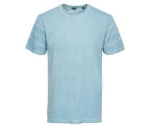 Detailliertes T-Shirt blau