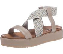 Sandaletten dunkelbeige / grau
