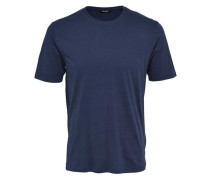 Kurzärmeliges T-Shirt navy / weiß