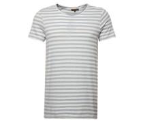 T-Shirt 'brokenstripe' blau / weiß