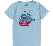 Slubjersey-T-Shirt für Jungen blau / hellblau / hellgrün / rot