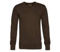 Sweatshirt im unifarbenen Design 'Sven' oliv