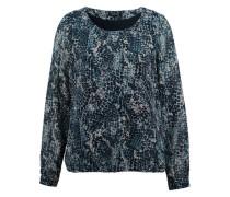Bluse mit Allover-Print blau