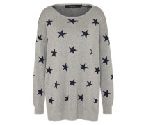 Oversize Pullover 'dotty' navy / grau