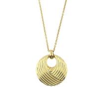'Waves' Halskette mit rundem Anhänger 'jpnl10580B800' gold
