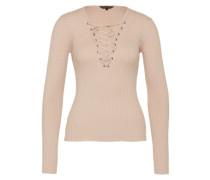Pullover mit Schnürung pink