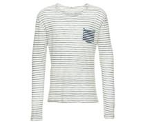 Sweatshirt 'kemeji S/t' marine / weiß