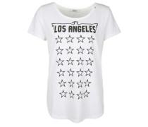T-Shirt mit Sternenprint schwarz / weiß