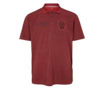 Poloshirt aus Baumwollpiqué blutrot / rotmeliert