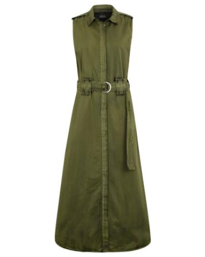 Blusenkleid im Used-Look khaki