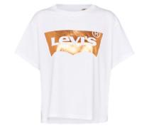 Shirt 'graphic J.v.' weiß