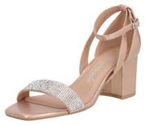 Sandalen 'tibby' gold / beige / rosa