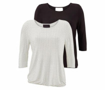 ¾ Shirt (2 Stück) schwarz / weiß