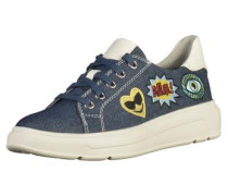 Plateausneaker blue denim
