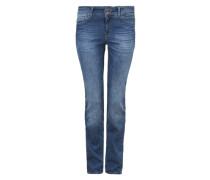 Jeans mit Doppelknopf blau