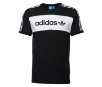 T-Shirt 'block Tee' schwarz / weiß