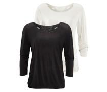 Shirts (2 Stück) schwarz / weiß