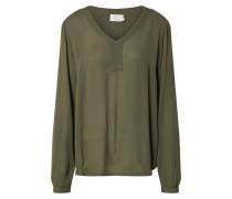 Blusenshirt oliv / dunkelgrün