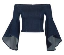 Offshoulder Bluse 'Lucinda' blau