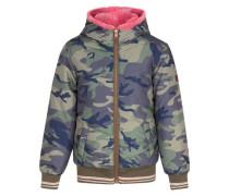 Winterjacke 'bomber' mischfarben / pink