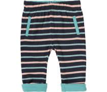 Baby Wende-Sweathose nachtblau / jade / pastellorange