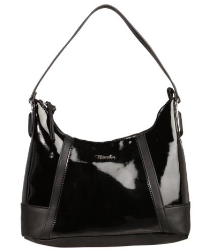 Hobo Bag 'Elsa' in Leder-Optik schwarz
