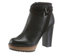 High-Heel-Stiefelette schwarz