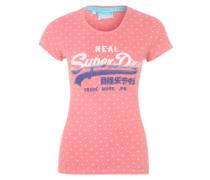 Printshirt mit Glitzer pink