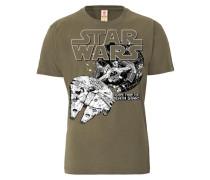 """T-Shirt """"Todesstern"""" dunkelbeige / schwarz / weiß"""
