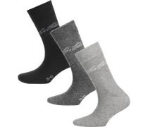 3 Paar Socken grau / dunkelgrau / schwarz