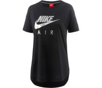 'W NSW TOP SS Air' T-Shirt Damen schwarz / silber