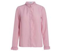 Klassisches Rüschen-Hemd pink