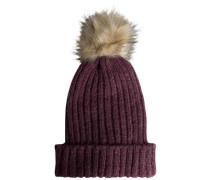 Bommel-Mütze burgunder