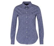 Bluse mit Flower-Print blau