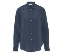 Bluse 'Classic Silk' rauchblau