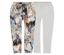2in1 Jog Pants und Leggings beige / mischfarben