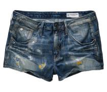 Jeansshorts 'Arc' dunkelblau / gelb