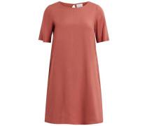Kleid mit kurzen Ärmeln rot