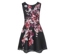 Kleid 'prntd Thckthn Sktr' schwarz