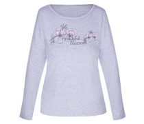 Shirt 'melange Mix&match' graumeliert