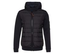 Jacke 'The knit detail down jacket' blau